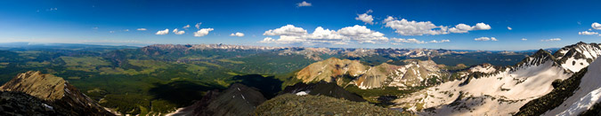 Wilson Peak summit pano