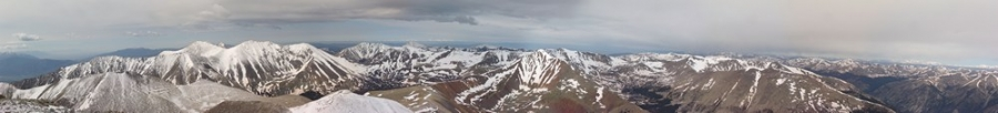 Panoramic from Mount Antero