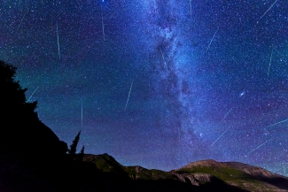 Perseid Meteor Shower over Ice Lake Basin