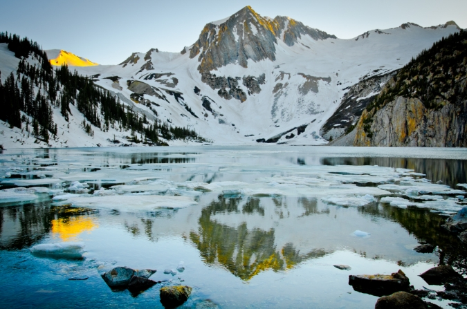 Snowmass Peak Reflected in Snowmass Lake