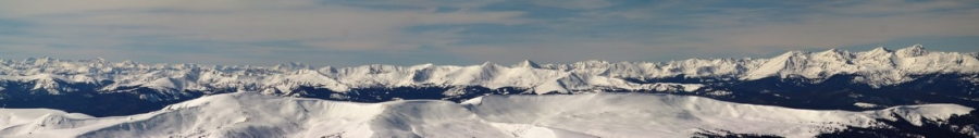 The Sawatch Range from Traver Peak