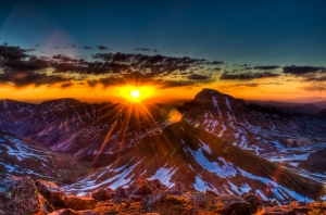 Coxcomb and Uncompahgre Panoramic at Sunrise (HDR)